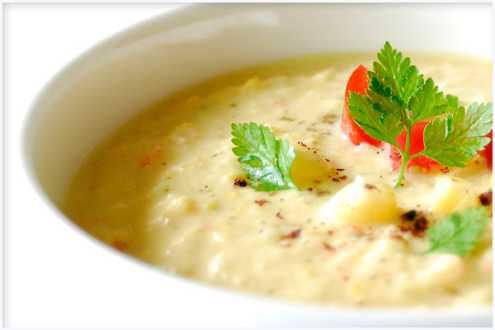 Царевична крем супа