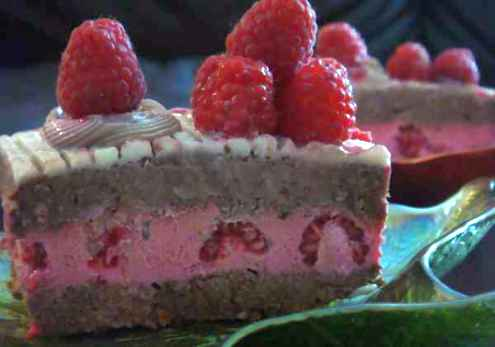 Шоко малинова торта