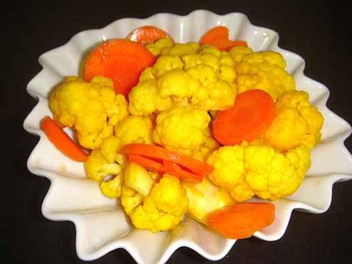 Туршия от карфиол и моркови
