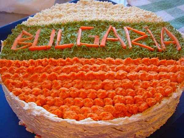 """Солена торта """"България"""""""